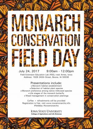 poster for 2017 ISU Monarch Conservation field day