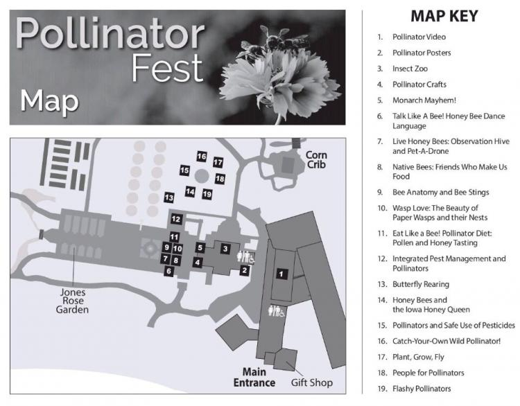 photo of Pollinator Fest map