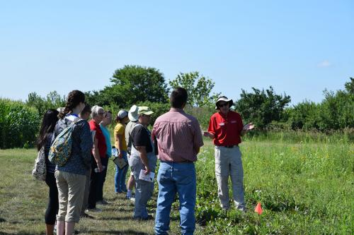 photo of field day attendees and Dr. Bob Hartzler