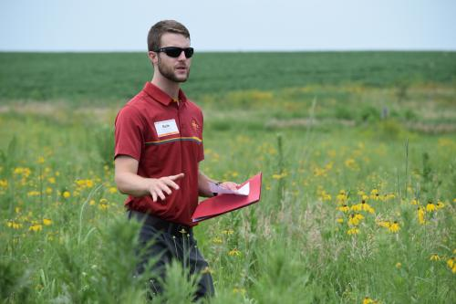 photo of Seth Appelgate, ISU agricultural specialist