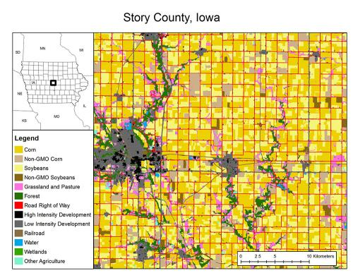 Story County Iowa Landcover
